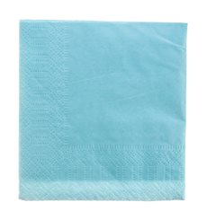 Paper Napkin Edging Light Blue 20x20 2C (100 Units)