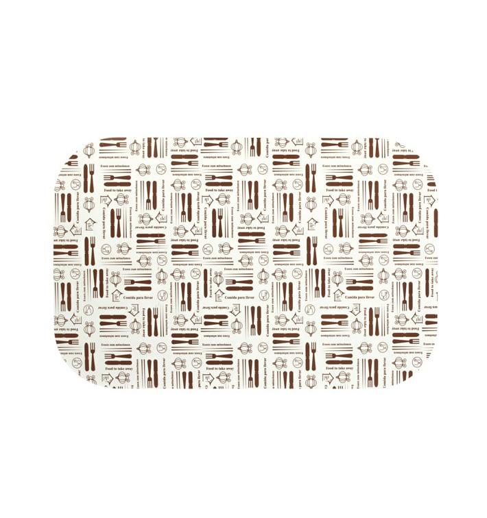 "Paper Lid for Foil Pan ""15 Cannelloni"" 1500 ml (500 Units)"