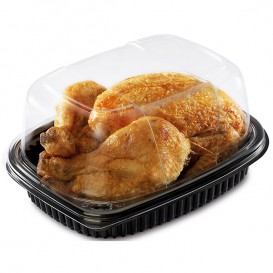 Plastic Container PP Rectangular Shape 800ml 21,5x17x4cm (40 Units)