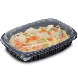 Plastic Container PP Rectangular Shape 1050ml 25,5x18,9x4,5cm (40 Units)