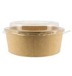 Paper Container Kraft-Kraft + RPET Lid 19 Oz/550 ml (300 Units)