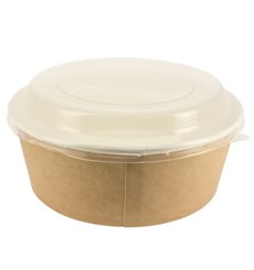 Paper Soup Bowl with Lid Kraft PP 38 Oz/1120 ml (100 Units)