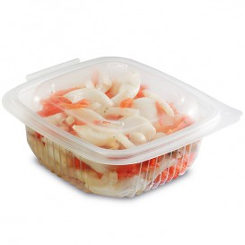 Plastic Container Microwave PP Transparente 375ml 12,3x11,4cm (50 Units)