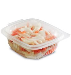 Plastic Container Microwave PP Transparente 375ml 12,3x11,4cm (900 Units)