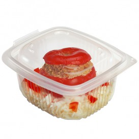 Plastic Container Microwave PP Transparente 500ml 14,2x12,3cm (50 Units)
