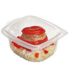Plastic Container Microwave PP Transparente 500ml 14,2x12,3cm (600 Units)