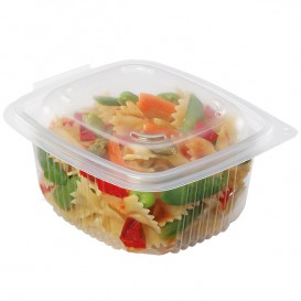 Plastic Container Microwave PP Transparente 750ml 14,2x12,3cm (50 Units)