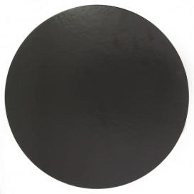 Paper Cake Circle Black 24cm (100 Units)