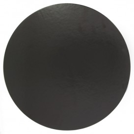 Paper Cake Circle Black 24cm (400 Units)