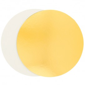 Paper Cake Circle Gold and White 32cm (400 Units)