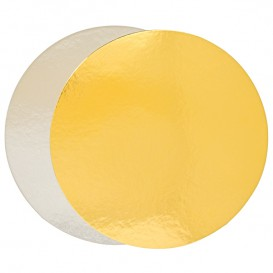 Paper Cake Circle Gold and Silver 22cm (100 Units)