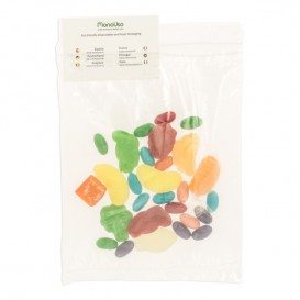 Plastic Bag Autoseal with Pocket 18x22,5+20cm G-200 (100 Units)