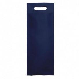 Non-Woven Bag with Die-cut Handles Navy Blue 17+10x40cm (25 Units)
