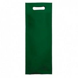 Non-Woven Bag with Die-cut Handles Green 17+10x40cm (200 Units)
