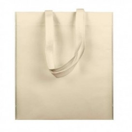 Non-Woven Bag with Short Handles Cream 38x42cm (200 Units)