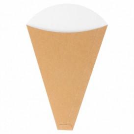"""Paper """"Crêpes"""" Cones Kraft 12x2,5x19cm 300g/m2 (2000 Units)"""