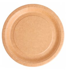 Paper Plate Biocoated Natural 18 cm