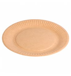 Paper Plate Biocoated Natural Relief 18 cm