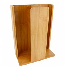 Bamboo Cup and Lid Organizer 23x12x30cm (8 Uts)