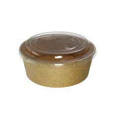 Paper Container Kraft-Kraft + RPET Lid 38 Oz/1120 ml (25 Units)