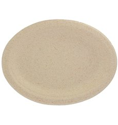 Wheat Straw Plate Natural 26x20 cm (50 Units)