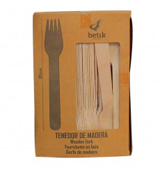 Wooden Fork Natural 16cm (100 Units)