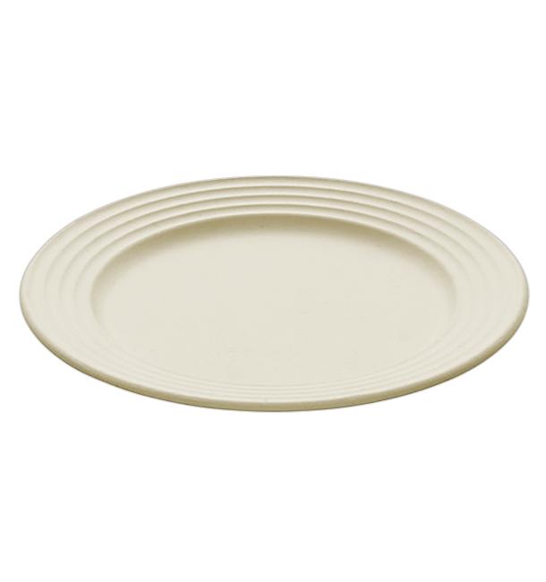 Sugarcane Plate Premium Wave Natural Ø26cm (50 Units)
