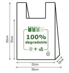 Plastic T-Shirt Bag 100% Biodegradable 35x50cm (2000 Units)