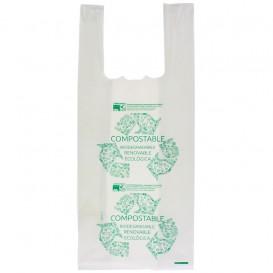 Plastic T-Shirt Bag 100% Biodegradable 35x50cm (100 Units)