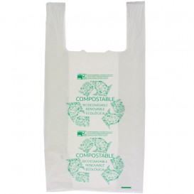 Plastic T-Shirt Bag 100% Biodegradable 35x50cm (100 Units)