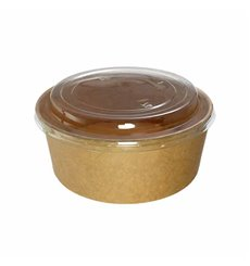 Paper Container Kraft-Kraft + RPET Lid 19 Oz/550 ml (50 Units)
