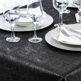 Non-Woven PLUS Tablecloth Black 120x120cm (500 Units)