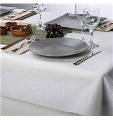 Non-Woven PLUS Tablecloth White 120x120cm (500 Units)
