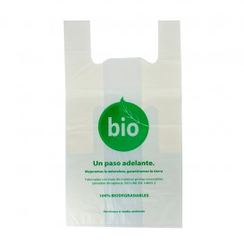 Plastic T-Shirt Bag 100% Biodegradable 50x55cm (100 Units)