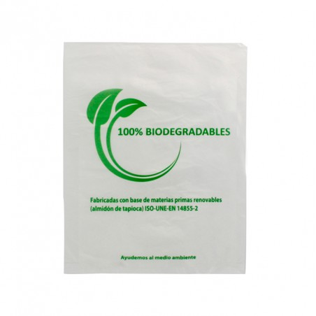 Plastic Bag 100% Biodegradable 16x24cm (100 Units)