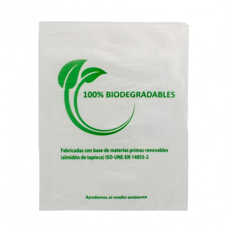 Plastic Bag 100% Biodegradable 23x30cm (100 Units)