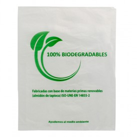 Plastic Bag 100% Biodegradable 30x40cm (100 Units)