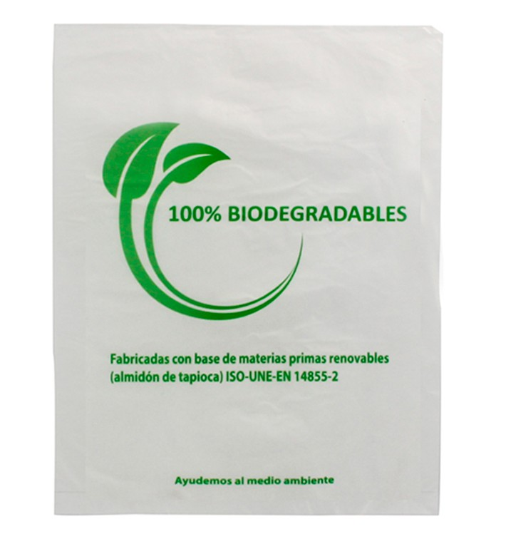 Plastic Bag 100% Biodegradable 35x48cm (100 Units)