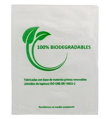 Plastic Bag 100% Biodegradable 35x48cm (100 Units)