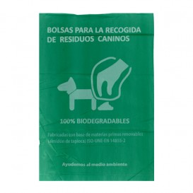 Plastic bag for dog droppings 100% bio 18x26cm (100 units)