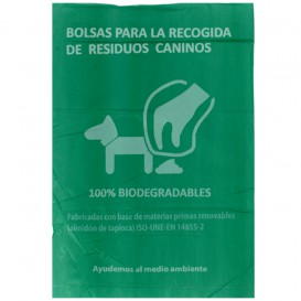 Plastic bag for dog droppings 100% bio 20x33cm (100 units)