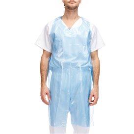 Disposable Plastic Apron PE G80 Blue 76x120cm (100 Units)