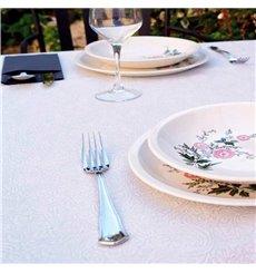 Non-Woven PLUS Tablecloth White 120x120cm (500 Units)