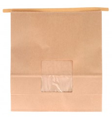 Paper Bag without Handle Kraft and Window 20+8x23cm (500 Uds)