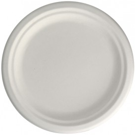 Sugarcane Plate Ø2C White Ø22,5 cm (50 Units)