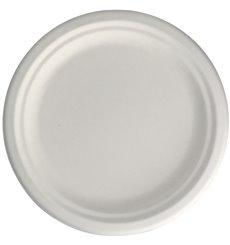 Sugarcane Plate Ø2C White Ø22,5 cm (50 Units)