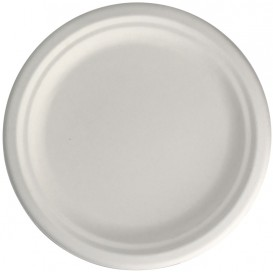 Sugarcane Plate White Ø15,5 cm (50 Units)