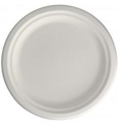 Sugarcane Plate White Ø15,5 cm (50 Units)