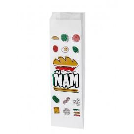 """Papieren voedsel zak """"Panes"""" 9+5x50cm (1000 eenheden)"""