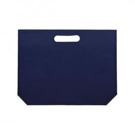 Non-Woven Bag with Die-cut Handles Electric Blu 34+8x26cm (200 Units)